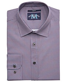 of London Men's Slim-Fit Performance Stretch Check Dress Shirt