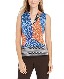 Floral Patchwork-Print Top