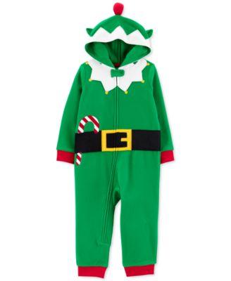 Toddler Boys 1-Pc. Elf Dress Up Pajamas