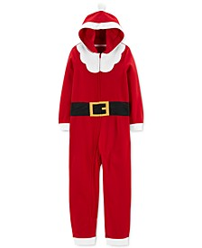 Little & Big Boys Hooded Santa Pajamas