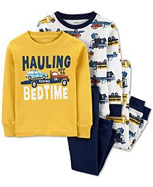 Carter's Baby Boys 4-Pc. Cotton Hauling Bedtime Pajamas Set