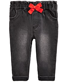 Baby Girls Bow Jeans, Created For Macy's