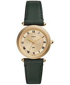 Women's Lyric Green Leather Strap Watch 32mm