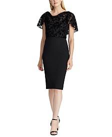 Lauren Ralph Lauren Petite Two-Tone Velvet Dress