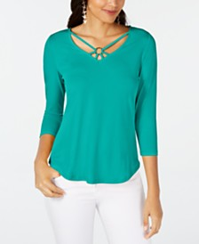 Thalia Sodi Ring-Hardware Strappy Top, Created for Macy's
