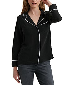 Maggie Piped-Trim Shirt