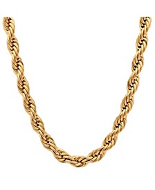"Men's 18k gold Plated Stainless Steel Rope Chain 30"" Necklace"