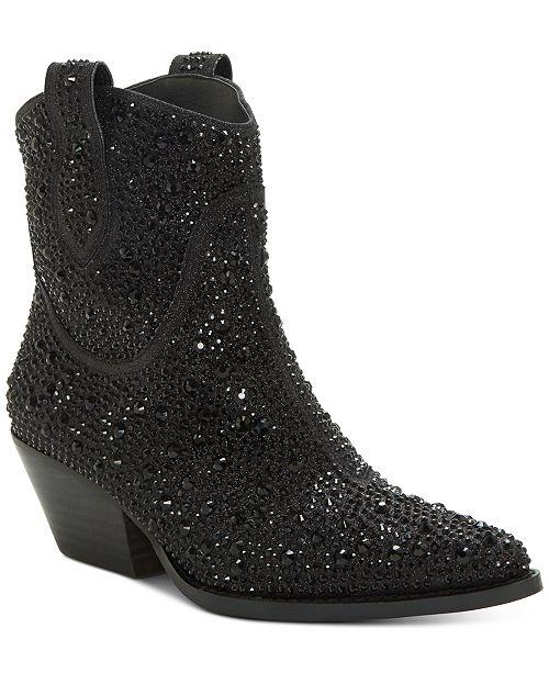 Jessica Simpson Tamira Embellished Western Booties