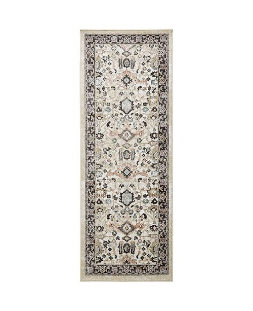 """Shabby Chic New Weave Paige Ivory 2'6"""" x 7'2"""" Runner Area Rug"""