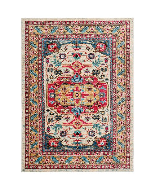 "Global Rug Designs CLOSEOUT! Global Rug Design Venus VEN05 Ivory 5'3"" x 7'2"" Area Rug"