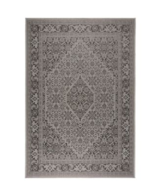 "Patio Country Dahlia Gray 5'2"" x 7'2"" Area Rug"