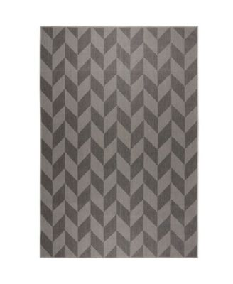 "Patio Country Calla Black 7'9"" x 10'2"" Area Rug"