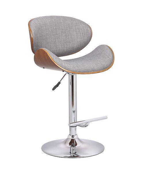 Us Pride Furniture Erma Adjustable Height Swivel Bar Stool