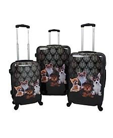 Doggies  3-Piece Hardside Luggage Set