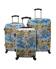 One World 3-Piece Hardside Luggage Set