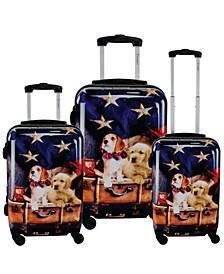 Freedom Pups 3-Piece Hardside Luggage Set