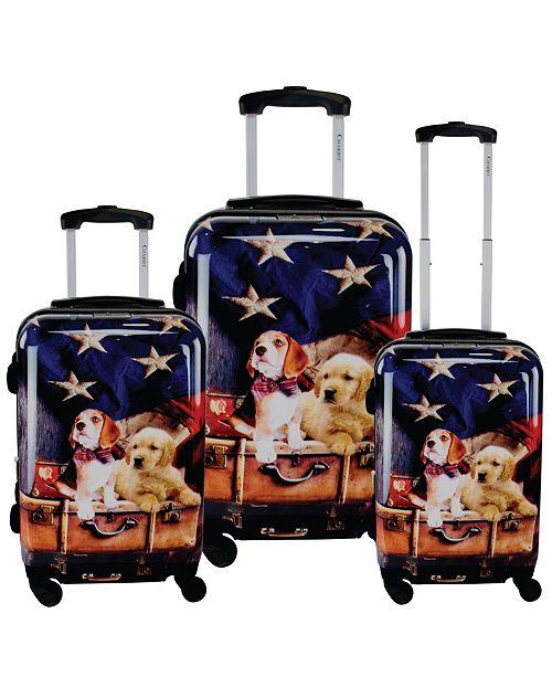 Chariot Freedom Pups 3-Piece Hardside Luggage Set
