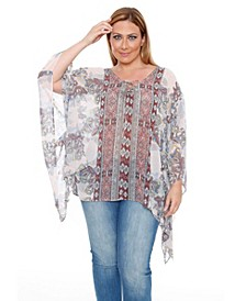 Plus Size Breeze Poncho Top/Tunic