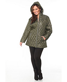 White Mark Shine Plus Women's Puffer Coat