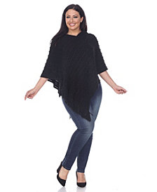 White Mark Plus Size Melisandre Fringe Poncho