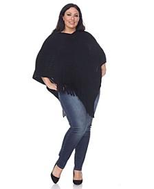 Plus Size Meera Fringe Poncho