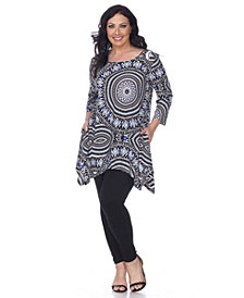 White Mark Plus Size Maji Tunic