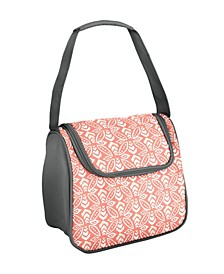 Costa Mesa Insulated Lunch Bag Kit, Coral Stamped Rings
