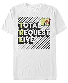 MTV Men's Total Request Live Bubble Letters Short Sleeve T-Shirt