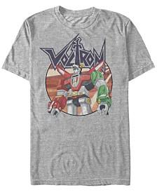 Voltron: Defender of the Universe Men's Robot Logo Short Sleeve T-Shirt