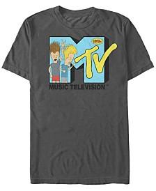 MTV Men's Beavis and Butthead Head bangers Logo Short Sleeve T-Shirt