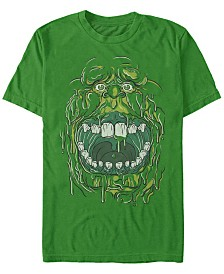 Ghostbusters Men's Slimer Big Face Halloween Costume Short Sleeve T-Shirt
