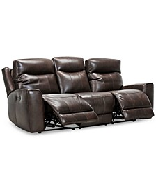 """CLOSEOUT! Bitola 86"""" Leather Dual Power Sofa, Created for Macy's"""