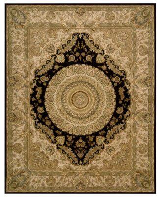 "Area Rug, Wool & Silk 2000 2233 Black 9'9"" x 13'9"""