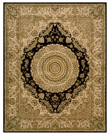 "Nourison Area Rug, Wool & Silk 2000 2233 Black 9'9"" x 13'9"""