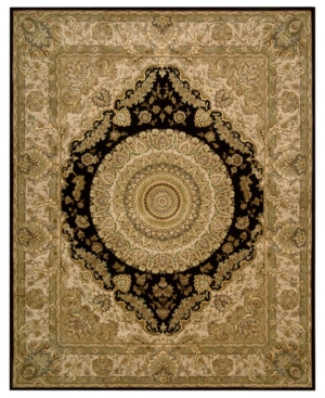 Nourison Area Rug, Wool & Silk 2000 2233 Black 2' x 3'