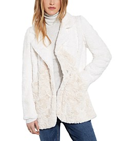 Faux-Fur Notched Lapel Jacket