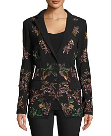 Beaded Two-Button Blazer