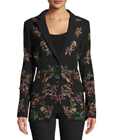 Nicole Miller Beaded Two-Button Blazer