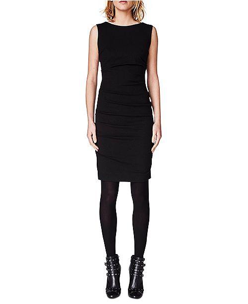 Nicole Miller Ruched Ponté-Knit Sheath Dress