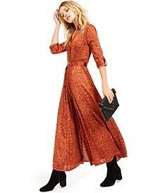 I.N.C. Python-Print Maxi Shirtdress, Created For Macy's
