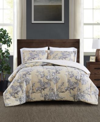 FULL//QUEEN Comforter Set Blush Pink NEW Macys Sunham Bedding Colesville 3-Pc