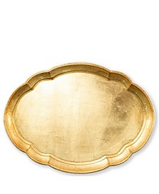 Florentine Wooden Large Oval Tray