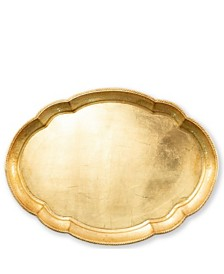 Vietri Florentine Wooden Large Oval Tray