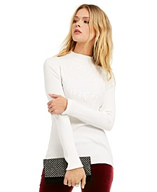 INC Mock-Neck Drip Sequin Sweater, Created For Macy's