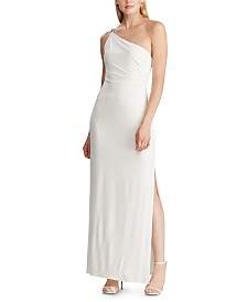 Lauren Ralph Lauren Jersey One-Shoulder Gown, Created For Macy's