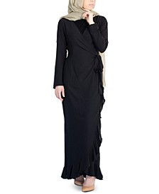 Emma Ruffled Wrap Dress