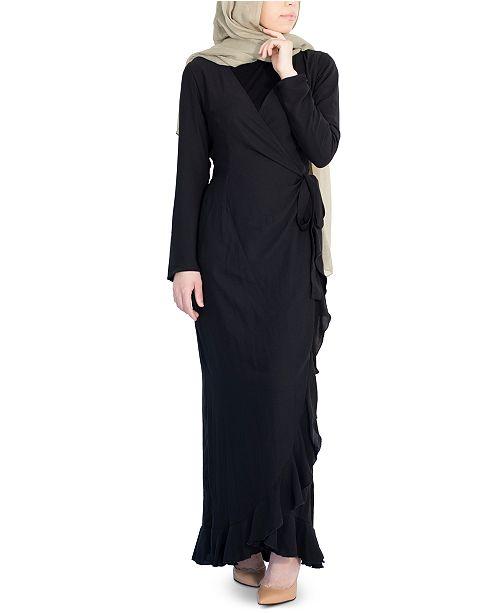 Verona Collection Emma Ruffled Wrap Dress
