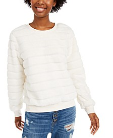 Juniors' Faux-Fur Sweatshirt