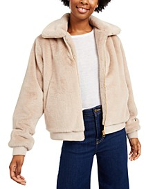 Juniors' Faux-Fur Jacket