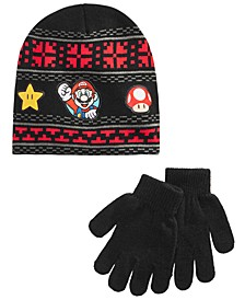 Big Boys Super Mario Bros. Hat & Gloves Set